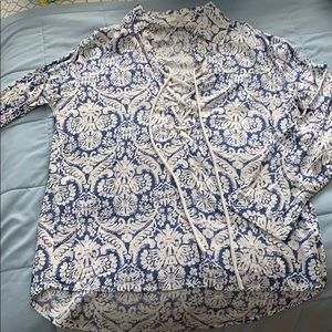 Blue & White blouse from VICI Collection